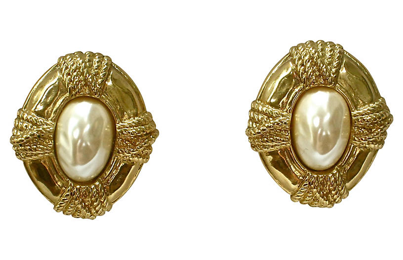 Givenchy Glass Pearl Classic Earrings