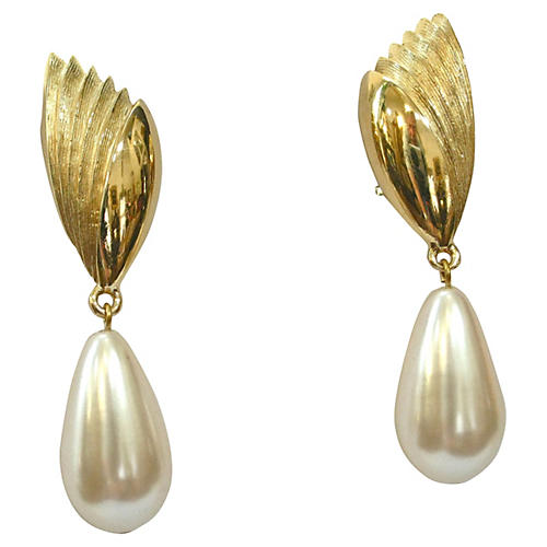 Givenchy Faux-Pearl Drop Earrings