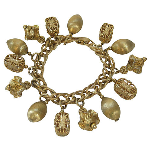 Napier Gold-Plated Charm Bracelet