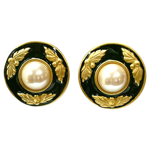 Givenchy Classic Cabochon Pearl Earrings