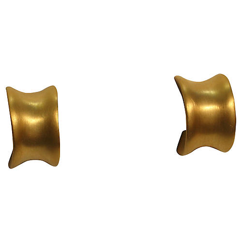 Givenchy Matte Gold Earrings
