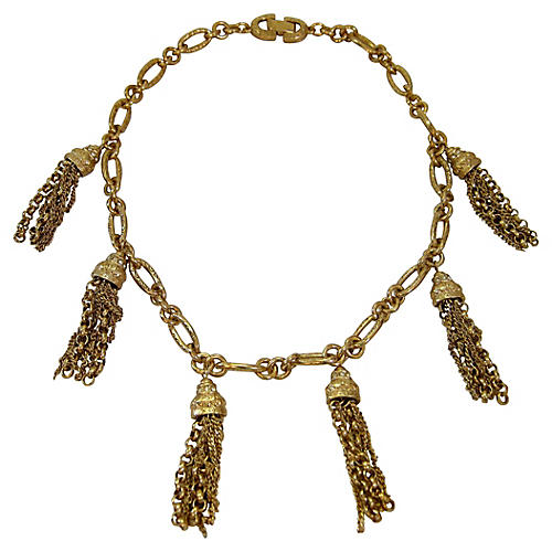 Givenchy Gold Tassel Necklace