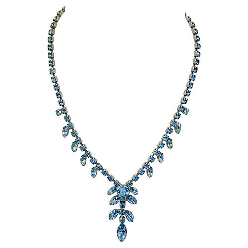 Deco-Style Crystal Cocktail Necklace