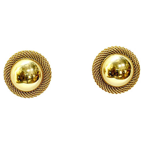 Mesh Gold-Plated Earrings