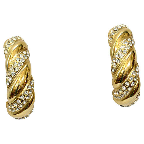 Givenchy Gold-Plated Crystal Earrings