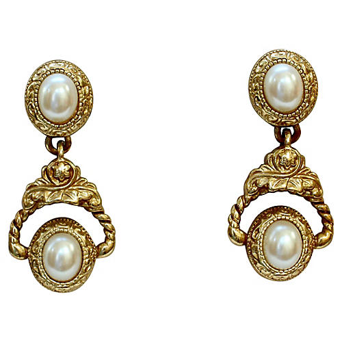 Givenchy Neoclassical Pearl Earrings