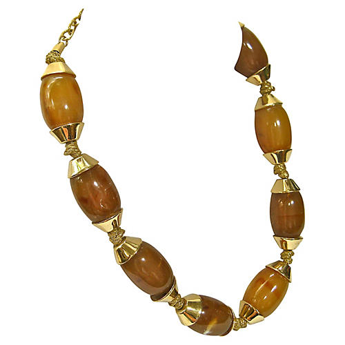 1980s Givenchy Stone Necklace