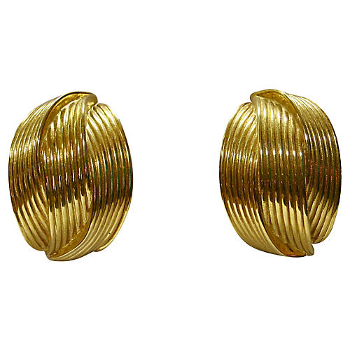 Givenchy Gold-Plated Carved Earrings