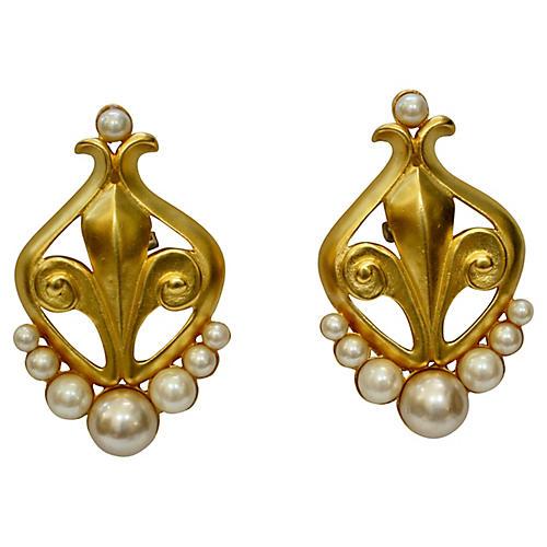 Karl Lagerfeld Matte Gold Earrings