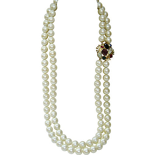 Givenchy Gripoix Double-Strand Necklace