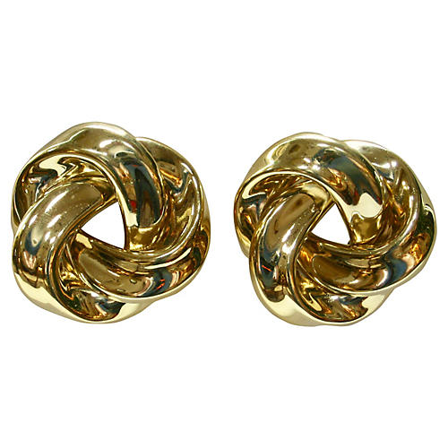 Givenchy Oversize Gold Knot Earrings