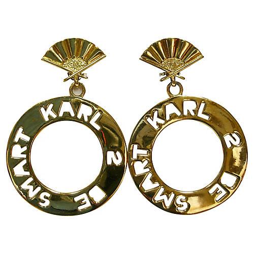 Karl Lagerfeld Runway Earrings