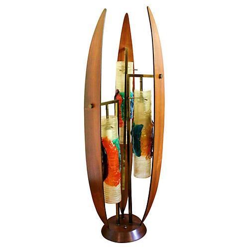 Mid-Century Modern Art Glass Lamp