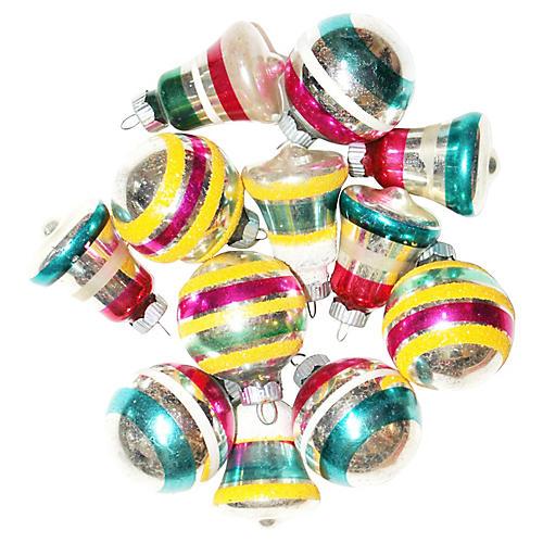 Shiny Brite Ornaments, S/12