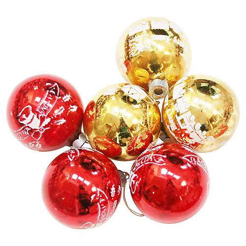 Stencil Ornaments, S/6