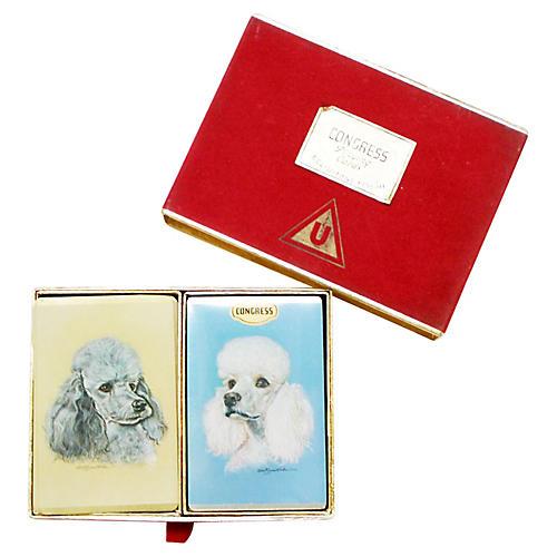 Vintage Congress Poodle Cards