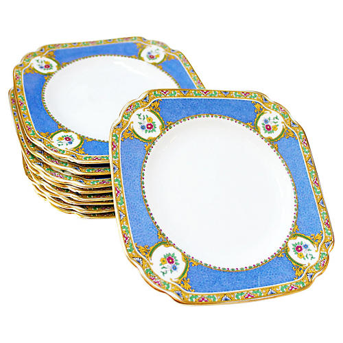 English Bread Plates, S/9