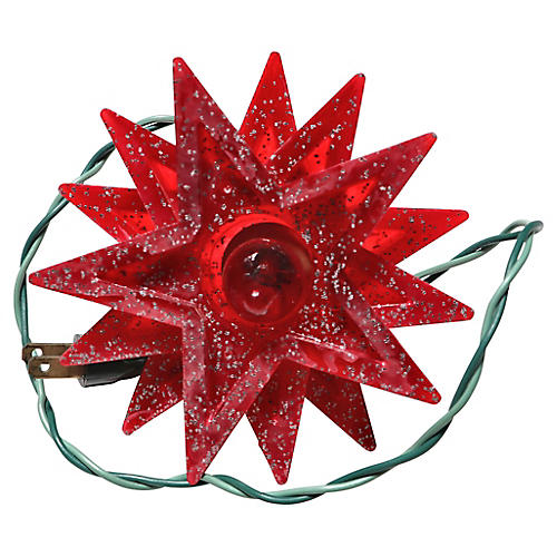 Red Star Electric Tree Topper