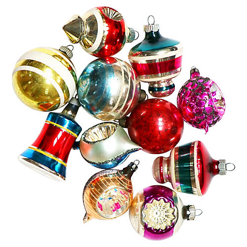 Stripes & Shapes Ornaments, S/11