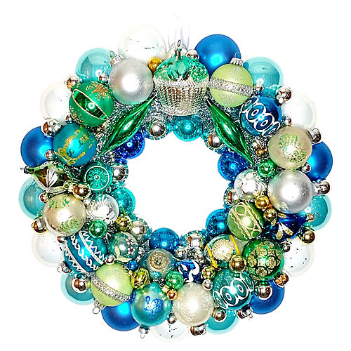 Aqua Ornament Wreath