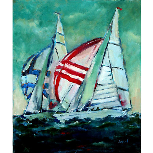 Regatta on the Bay by Maree Lubran