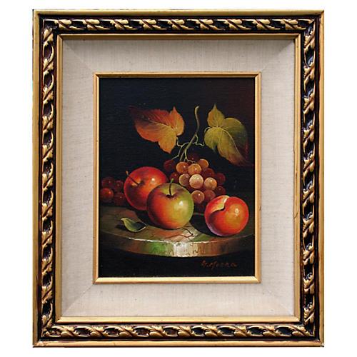 Apple & Grape Still Life
