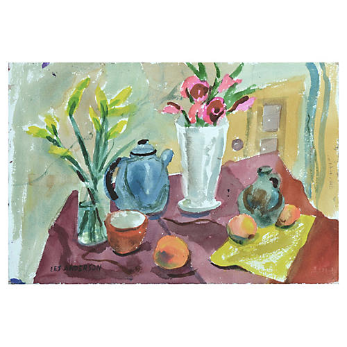 Kitchen Still Life by Les Anderson
