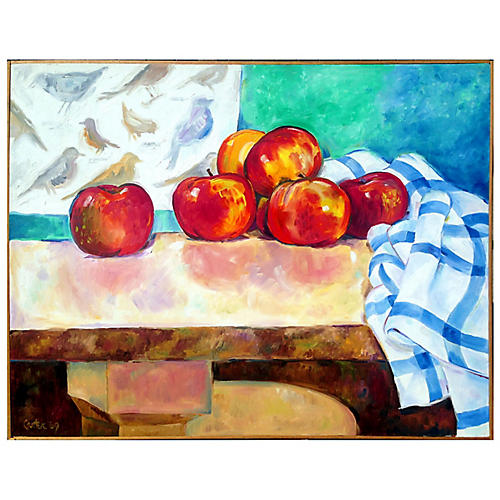 Apples & Table by Bob Carter