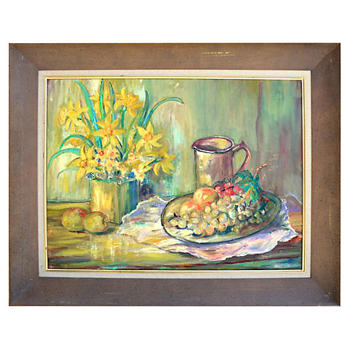 Daffodils & Grapes by Katherine Crist