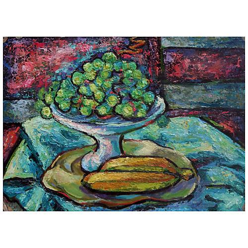 Grapes & Bananas by Virginia Rogers