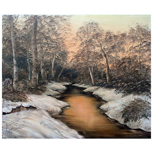 Winter Stream by A. Chesebrough