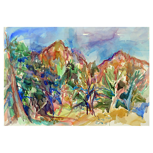 Abstract Mountains by Virginia Hughins