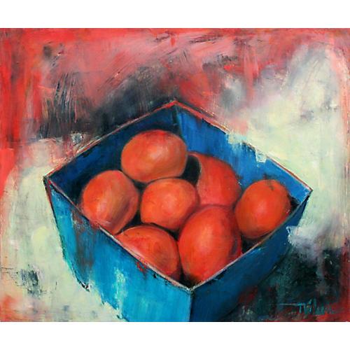 Box of Fresh Nectarines