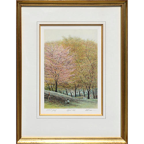 Spring in Central Park by Harold Altman