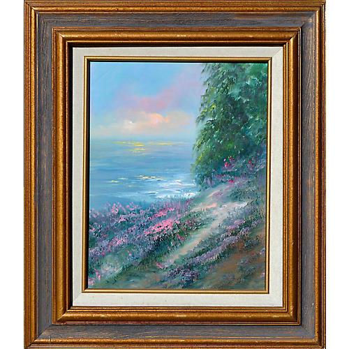 Hillside Wildflowers and Ocean