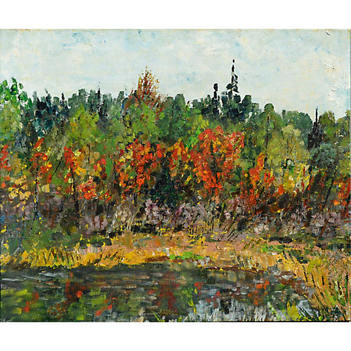 Abstract Impressionist Autumn Landscape
