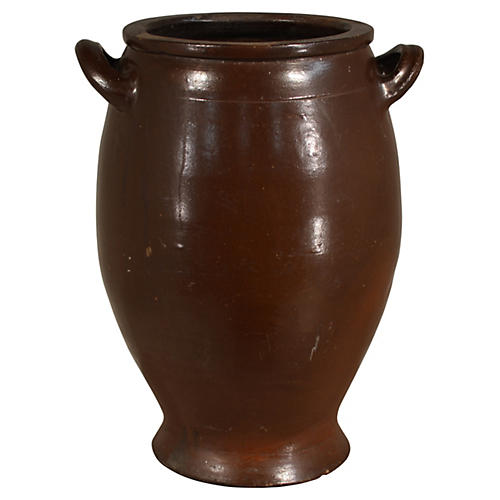 19th-C. French Crock