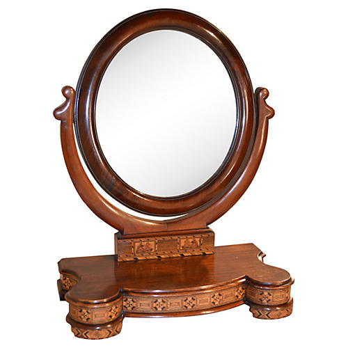 19th-C. Tunbridge Dresser Mirror