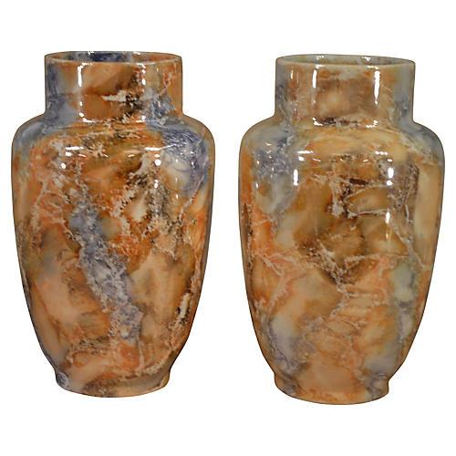 Lusterware Vases, C. 1930, Pair