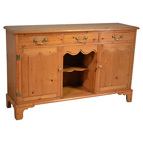 19th-C. English Pine Dresser