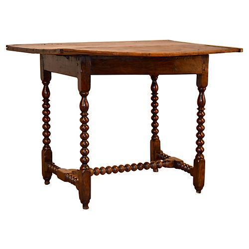 17th-C. Bobbin-Turned Side Table