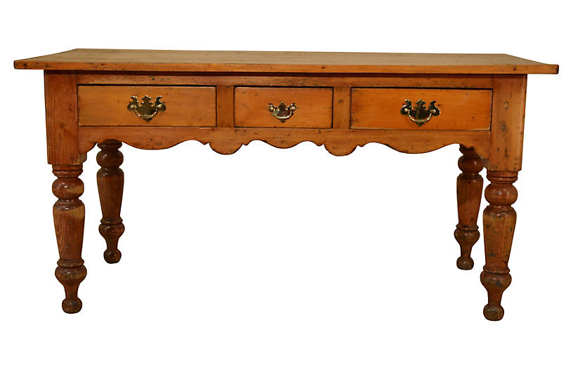 19th-C. Lancashire Harvest Table