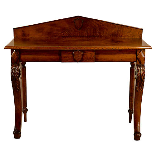 19th-C. English Shield Console Table