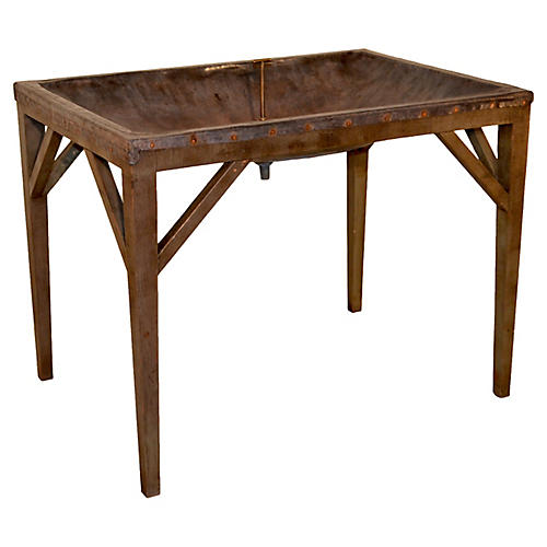 19th-C. English Dairy Skimming Table