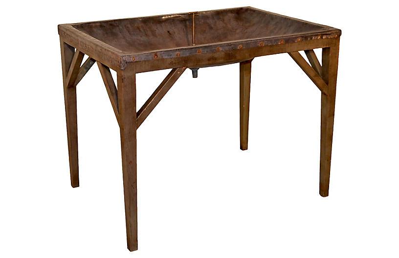 19th-C. English Dairy Skimming Table
