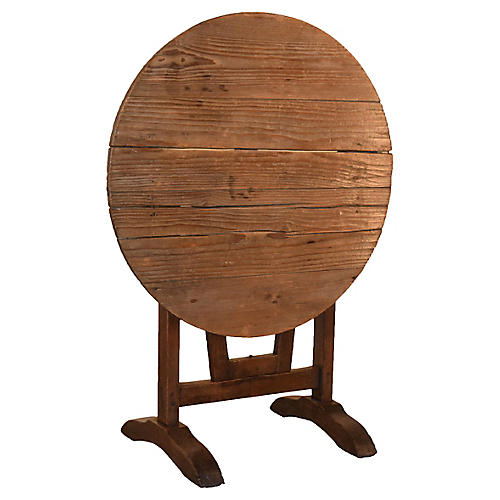 19th-C. French Pine Wine Table