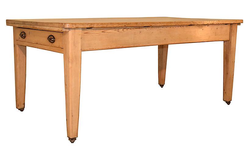 19th Century Pine Work Table