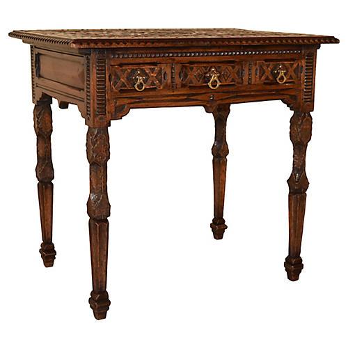 19th-C. English Folk Art Table