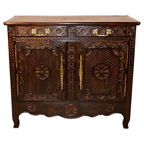 19th-C. French Breton Cabinet