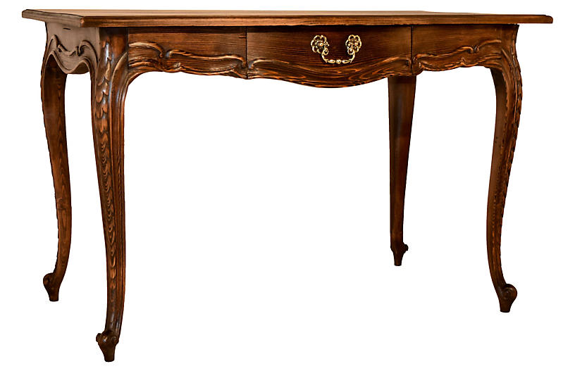 19th-C. Pine Side Table